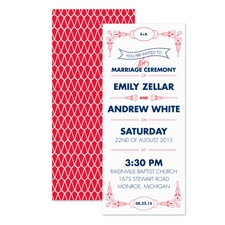Classic Type Wedding Invitation - Cherry