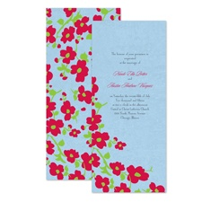 Vintage Blooms Wedding Invitation