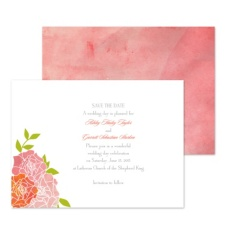 Watercolor Roses Save the Date