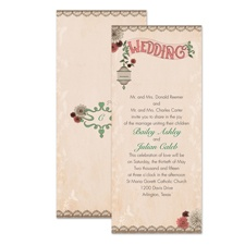 Vintage Birdcage Wedding Invitation