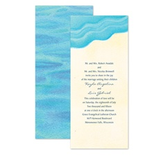 Watercolor Waves Wedding Invitation