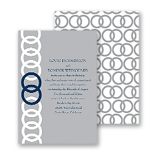 Joined Rings Wedding Invitation