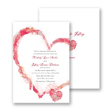 Artistic Heart Wedding Invitation