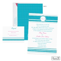 Dotted Details Wedding Invitation