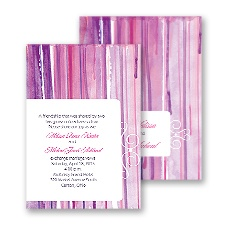 Painted Pattern Wedding Invitation