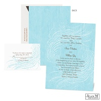 Feathered Swirls Wedding Invitation