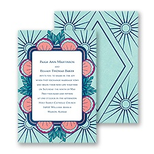 Deco Border Wedding Invitation