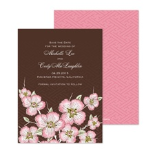 Cherry Blooms Save the Date