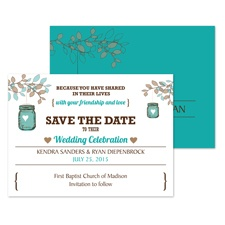 Jar Lantern Save the Date