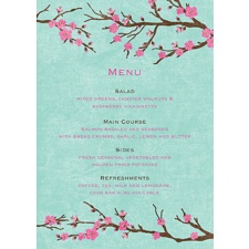 Cherry Blossoms Menu Card