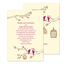 Love Perch Wedding Invitation
