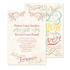 Vintage Promises Wedding Invitation