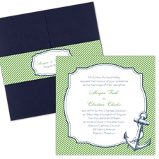 Nautical Nuptials Wedding Invitation with Pocket