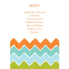 Fresh Chevron Menu Card