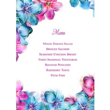 Watercolor Blossoms Menu Card