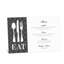 Time to Eat Menu Card - Black