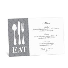 Time to Eat Menu Card - Pewter