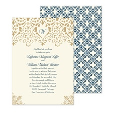 Ornate Vintage Wedding Invitation