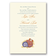 Tropical Seashells Wedding Invitation