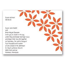 Orange Blossoms Wedding Invitation