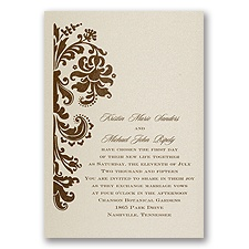 Champagne Shimmer Wedding Invitation Card