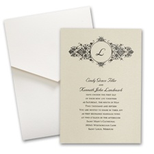 Champagne Shimmer Wedding Invitation with Pocket