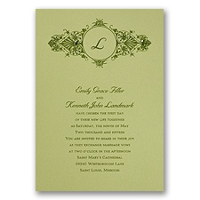 Olive Wedding Invitation Card
