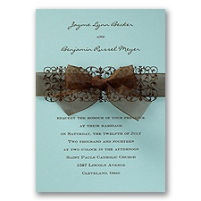 Aqua Wedding Invitation