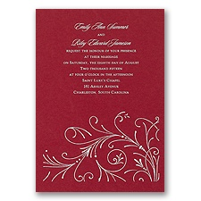 Merlot Wedding Invitation Card