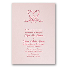 Princess Pink Wedding Invitation