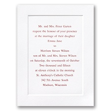 White Classic Panel Wedding Invitation