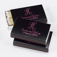 Black Favor Matchboxes