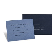 Blue Shimmer Response Card and Envelope