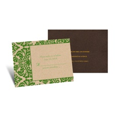 Rustic Damask Response Card and Envelope