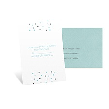 Pretty Dots Response Card and Envelope