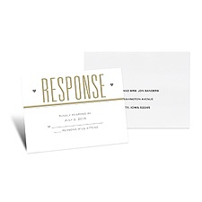 Led By Love Response Card and Envelope