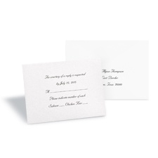 White Shimmer Response Card and Envelope