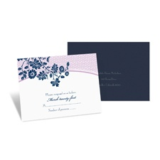 Garden Trellis Response Card and Envelope - Midnight