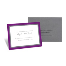 Bold Double Border Response Card and Envelope - Grapevine
