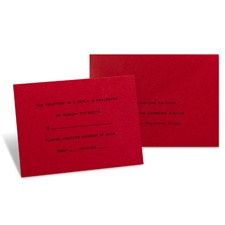 Merlot Response Card and Envelope