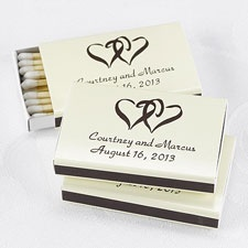 Ecru Favor Matchboxes
