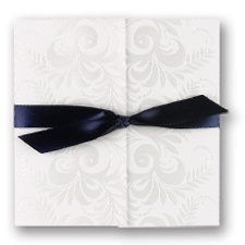 Pearl Flourishes Wedding Invitation