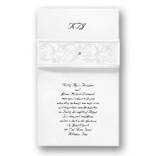 Pearlescent Band Wedding Invitation