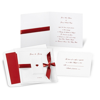 Ribboned Romance Wedding Invitation