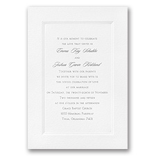 White Triple Frame Wedding Invitation