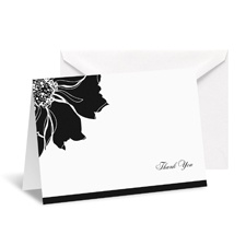 Floral Focus Note Card and Envelope