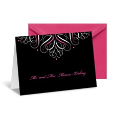 Mod Medallion Note Card and Envelope - Fuchsia