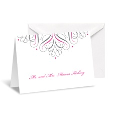 Mod Medallion Note Card and Envelope - White