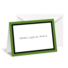Bold Double Border Note Card and Envelope - Clover Leaf