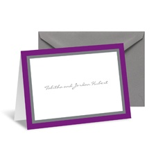 Bold Double Border Note Card and Envelope - Grapevine